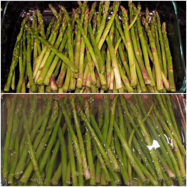 blanching asparagus