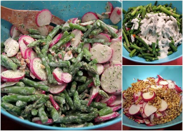 radish and asparagus salad