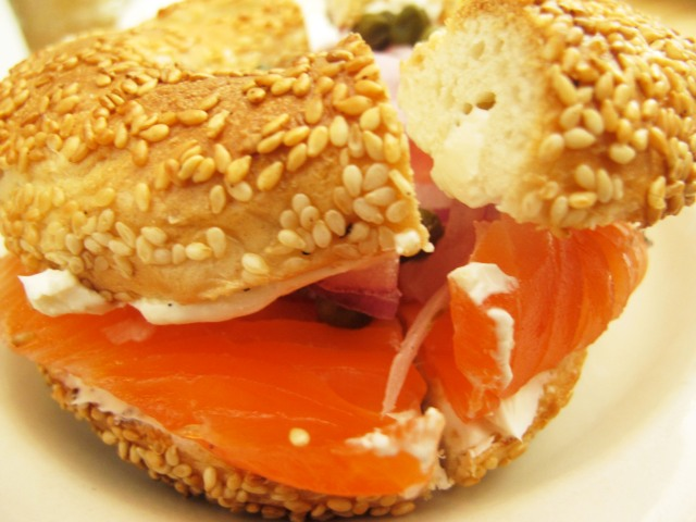 mile end lox bagel