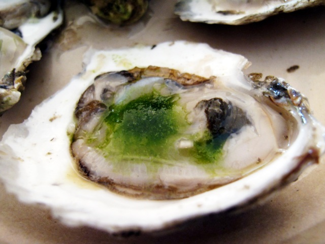 oyster with green chili krack