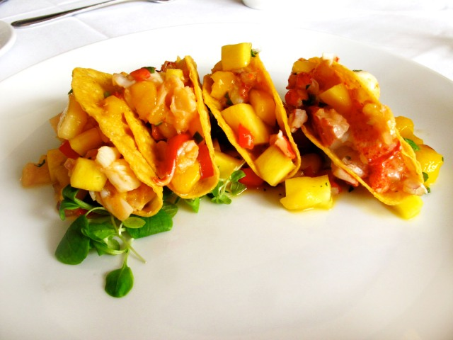 lineage lobster mango tacos