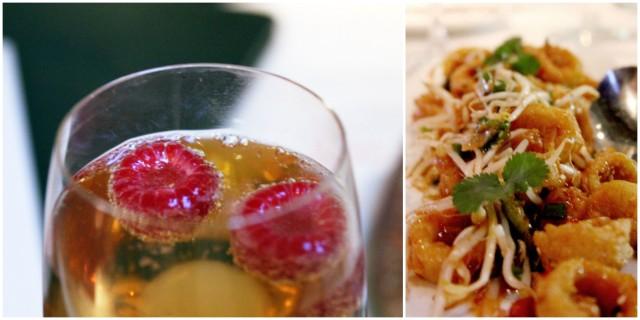 calamari and champagne