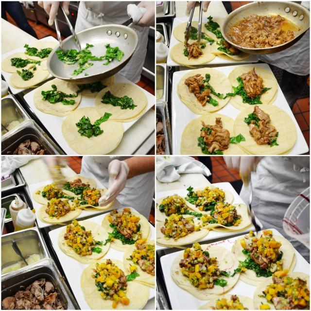 quail taco collage