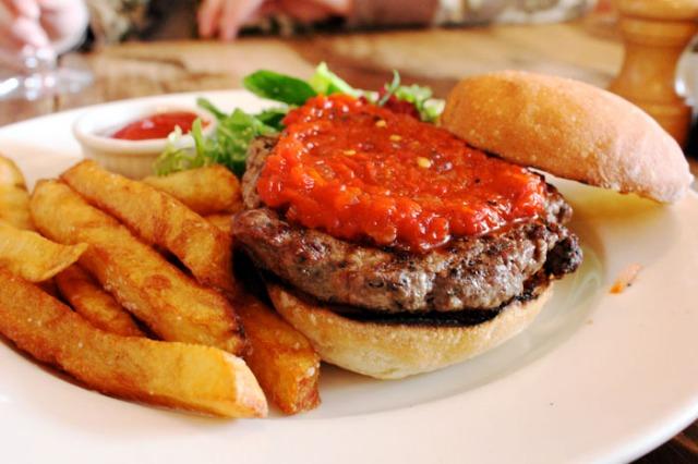 the kitchen lamb burger