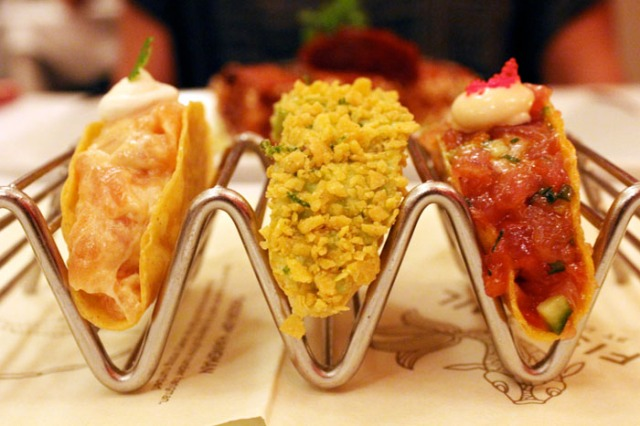 fishtail sashimi tacos